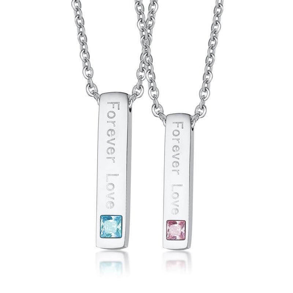 Forever Love Couple Promise Necklaces