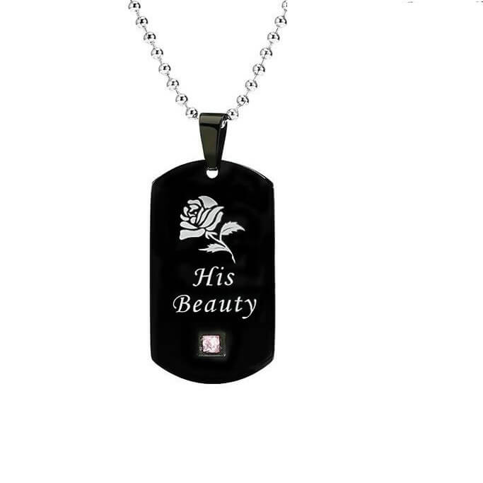His Beauty Her Beast Couple Necklace