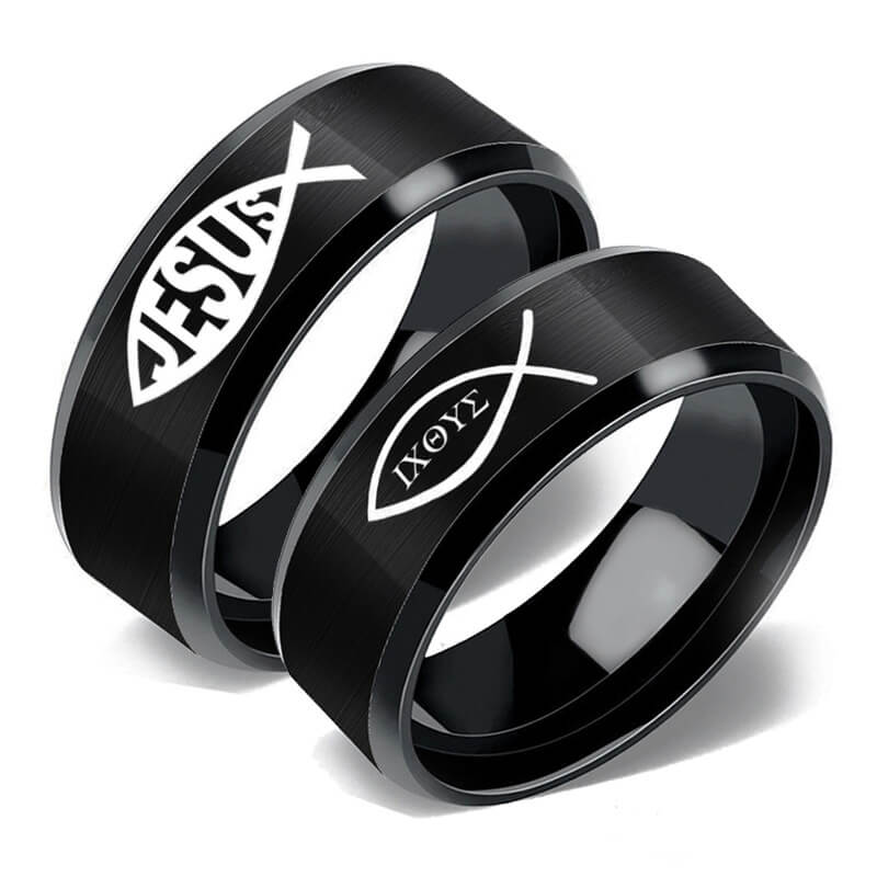 JESUS IXOYE Black Couple Rings