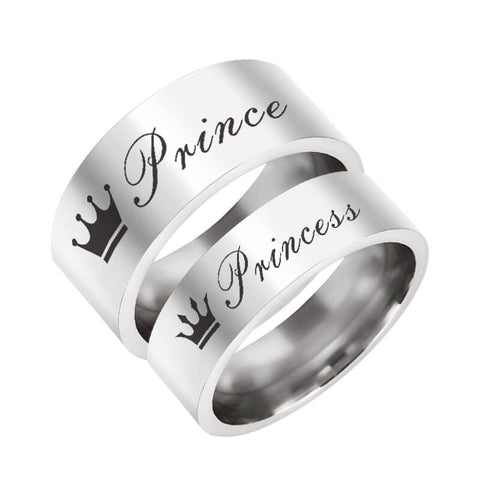Princes Princess Promise Ring Set
