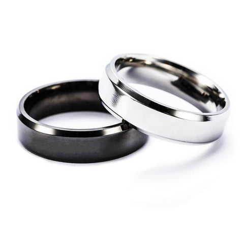 Engraved Promise Rings for Couple