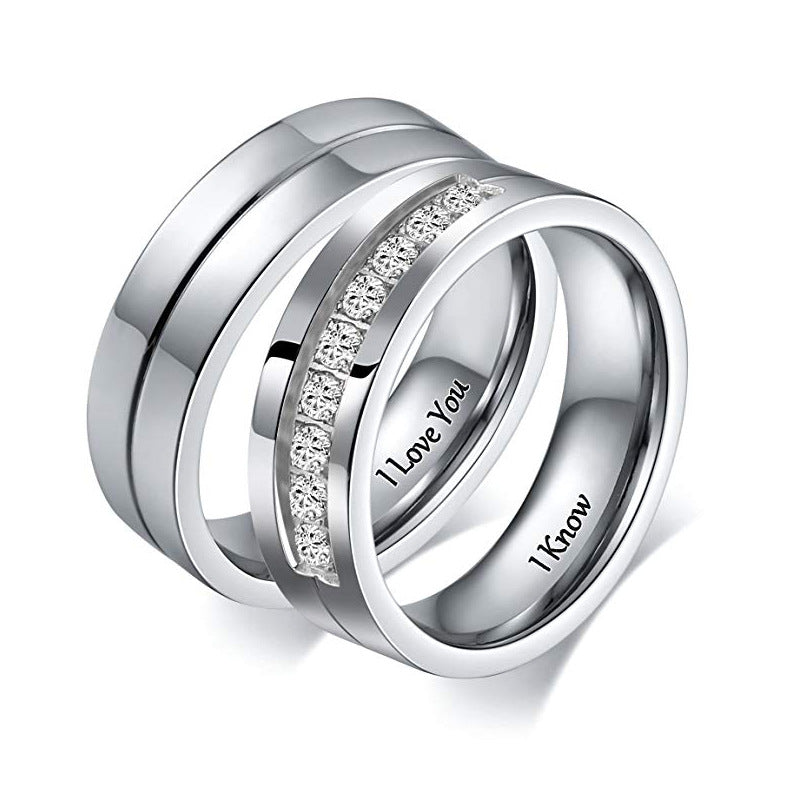 I LOVE YOU I Know Promise Rings Couple Set