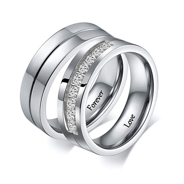 Forever Love Matching Promise Rings for Women and Men