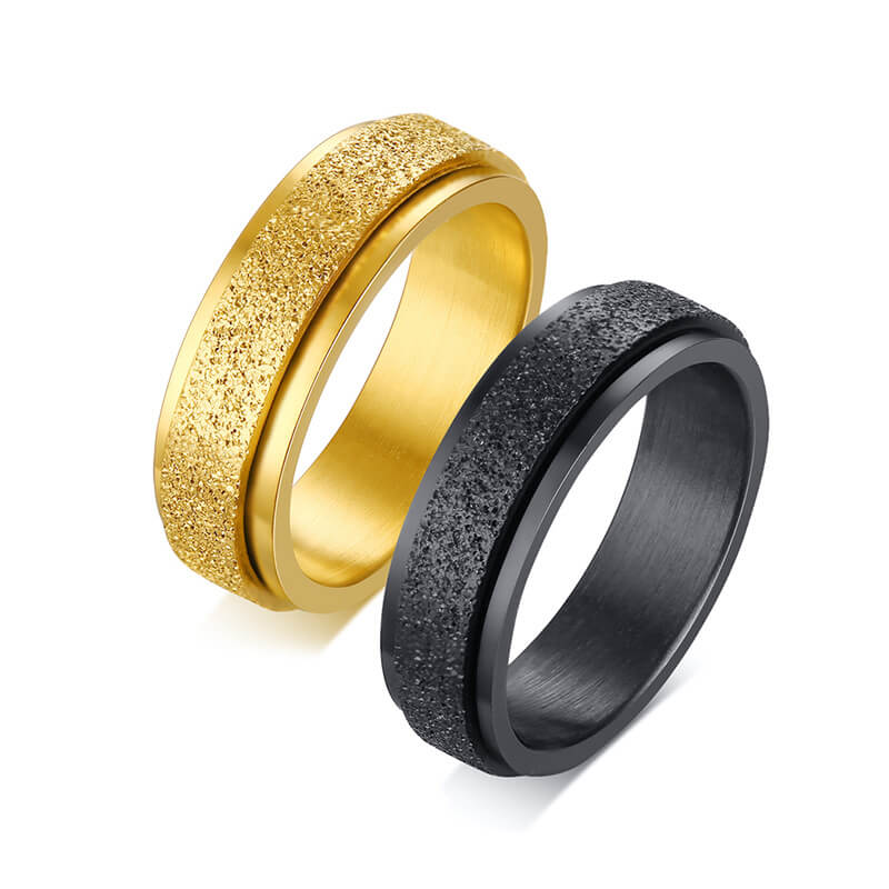 Stainless Matte Couple Rings
