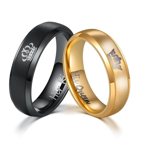 Her King His Queen Couple Ring