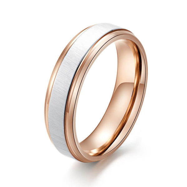 Rose Gold Promise Rings for Couple