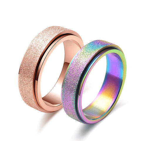 Rose Gold Frosted Rings