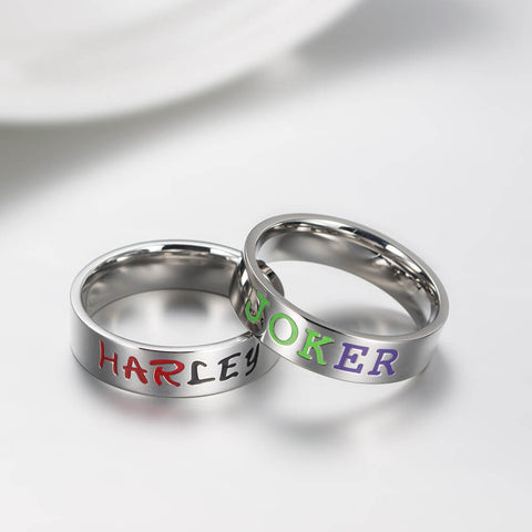 Harley Joker Couple Rings GardeniaJewel