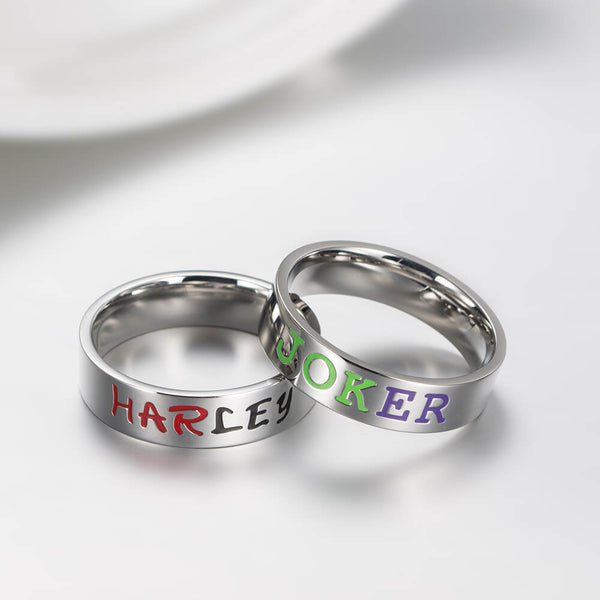 Harley & Joker Couple Rings