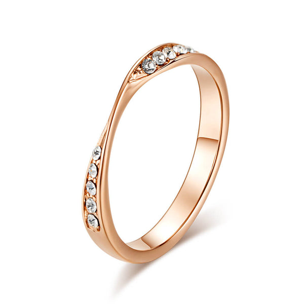 Rose Gold Twisted Promise Rings