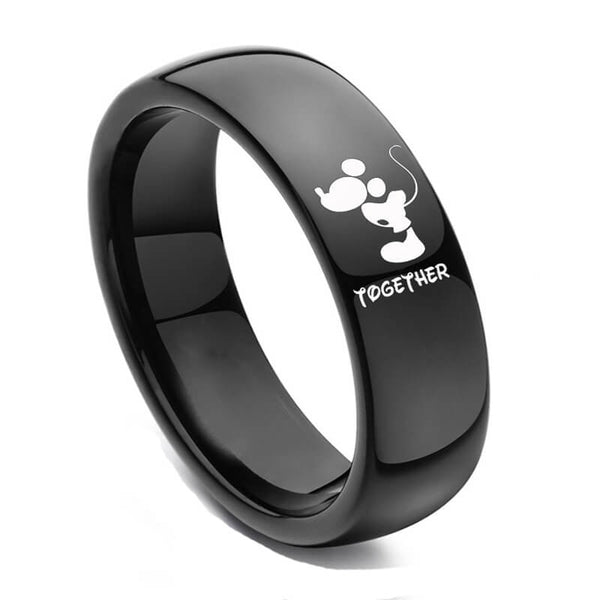 Black Forever & Together Promise Rings