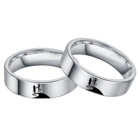 Jack and Sally Promise Rings for Couples