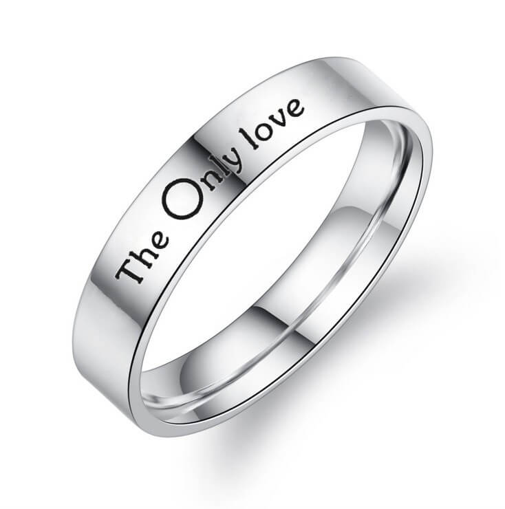 THE ONLY LOVE Promise Rings for Couples