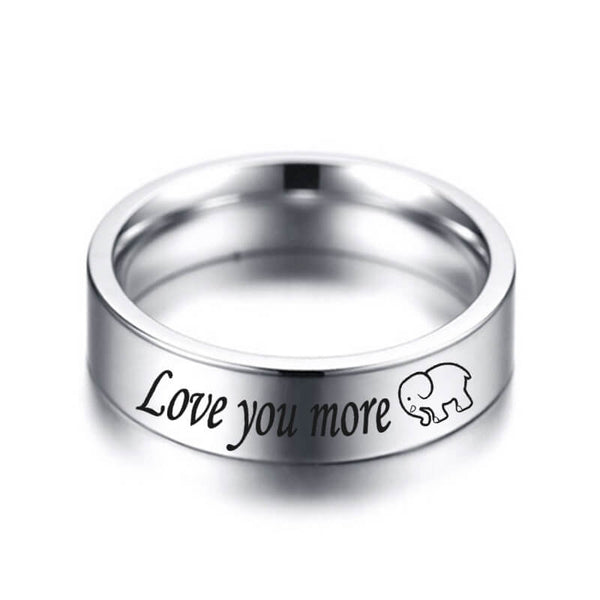 LOVE YOU MORE LOVE YOU MOST Promise Rings for Couples