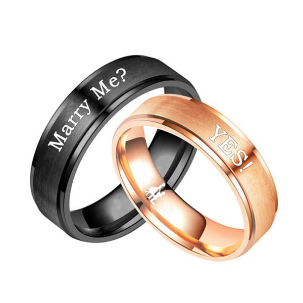 Engraved Couple Promise Rings