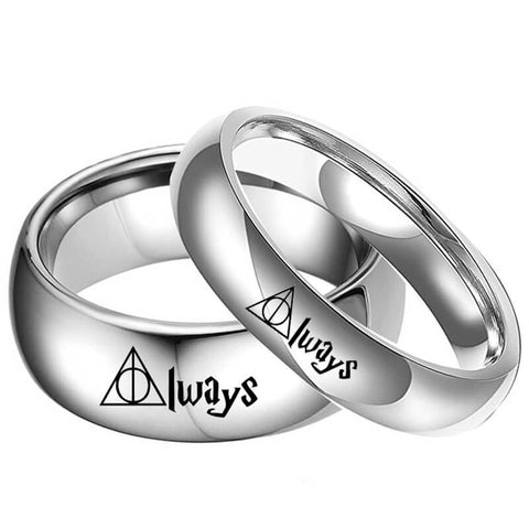ALWAYS Promise Rings for Couples Titanium