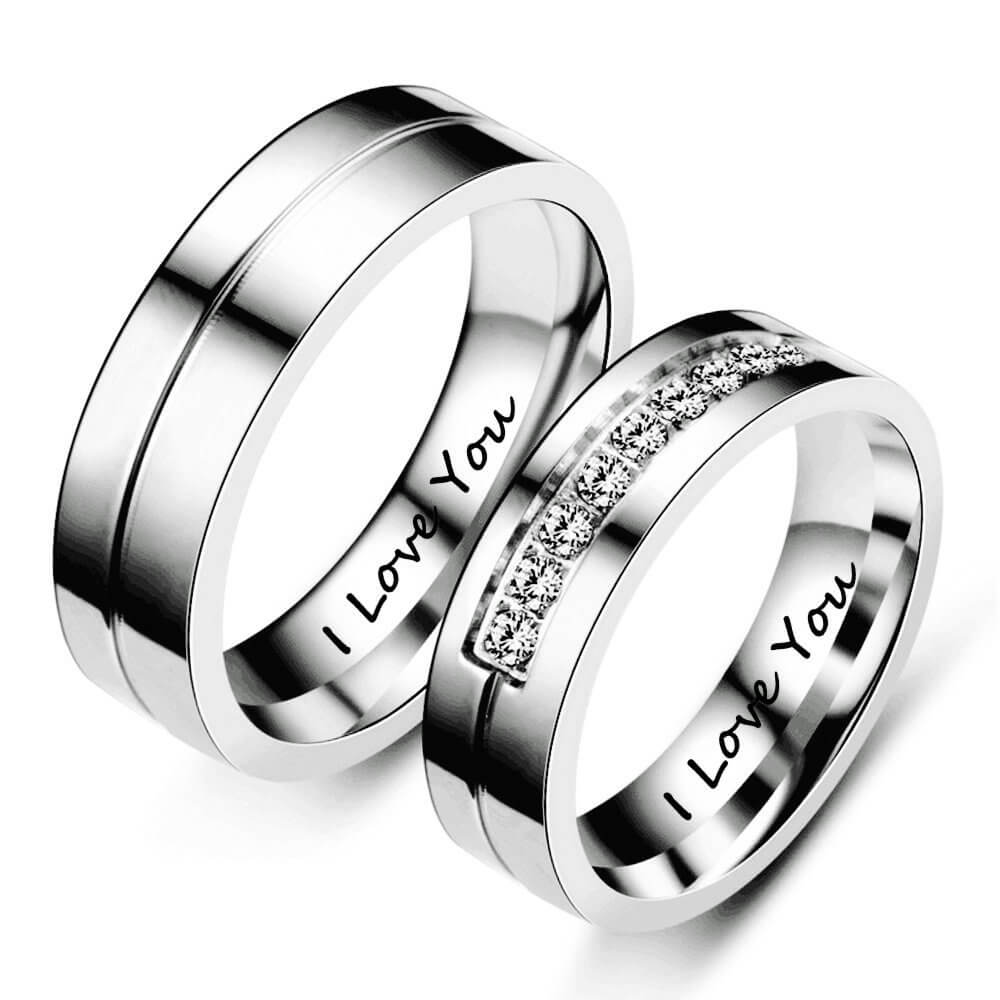 His & Hers Matching Ring Silver