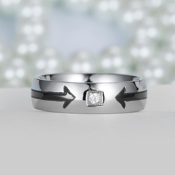 Cupid's Arrow Couple Ring