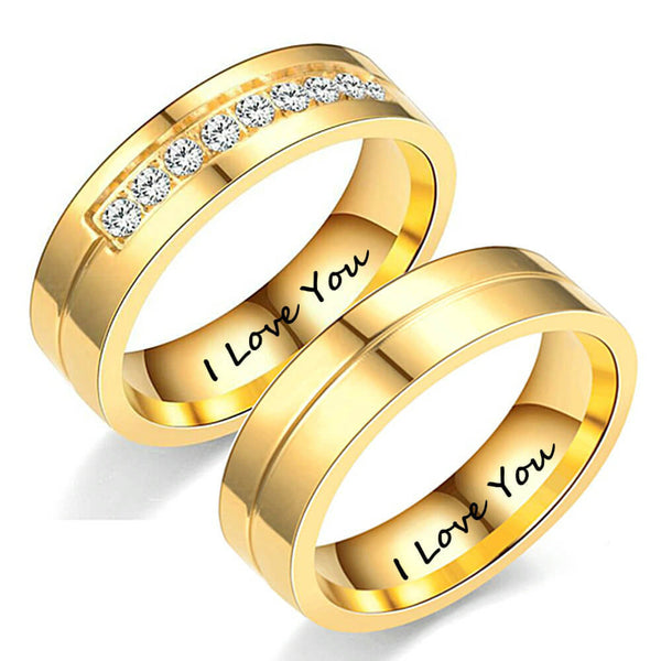 Gold Couples Promise Rings