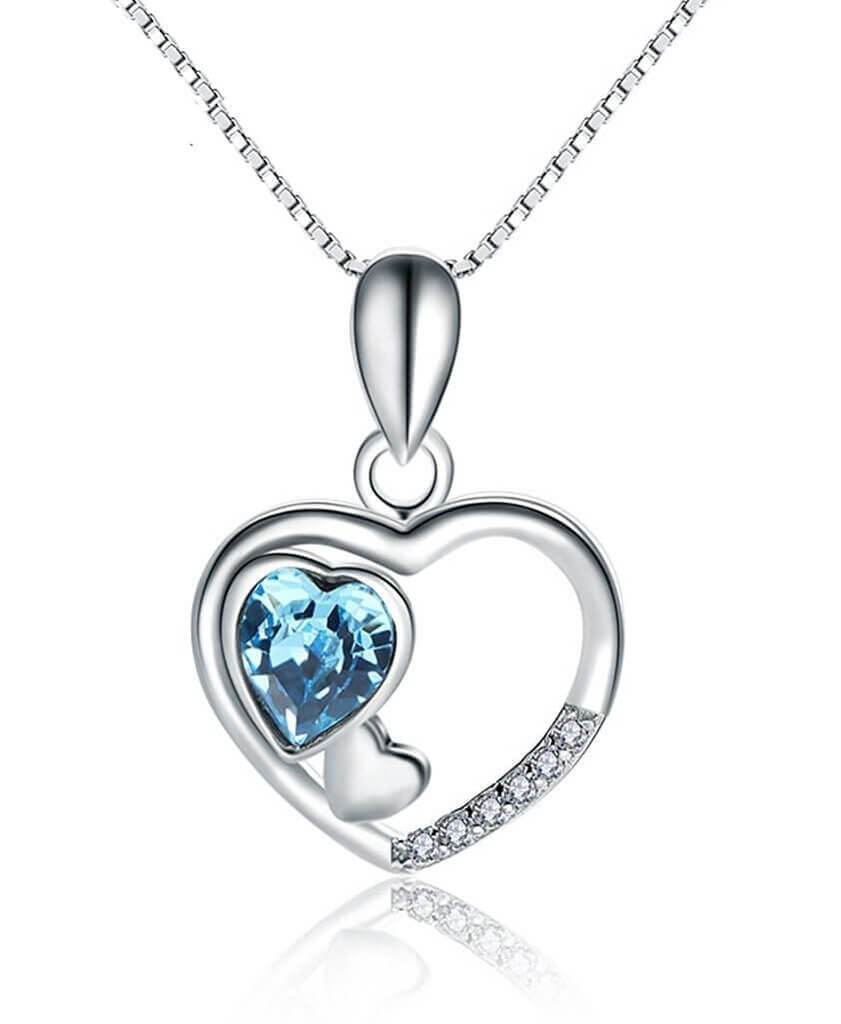 Triple Heart Crystal Necklace