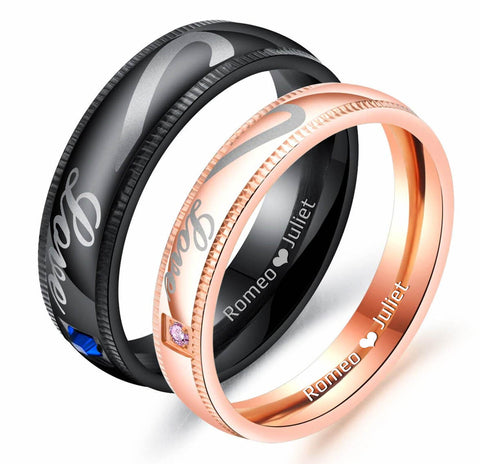 3a423523fc Black and Rose Gold Matching Promise Rings. $140.00 $63.28.  products/gardeniajewel_heartcouplepromiseringsengraved.jpg