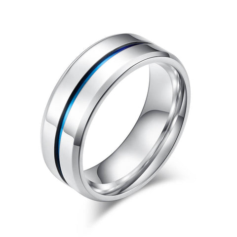 Mens Promise Rings Blue