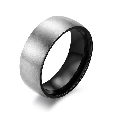His Black Promise Rings 8mm