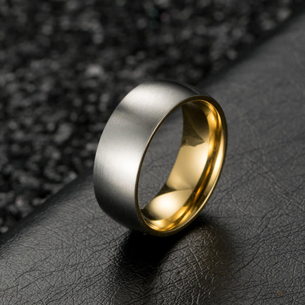 Male Gold Promise Rings 8mm