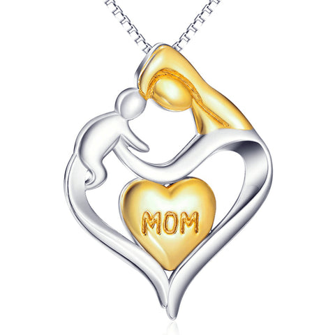Mom and Child Necklace Gifts