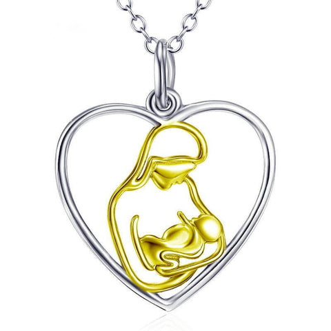 Mom and Baby Mother's Arms Necklace
