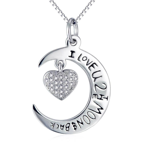 Moon to Heart Necklace