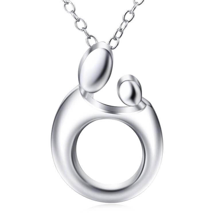 Mother & Child Hugging Necklace