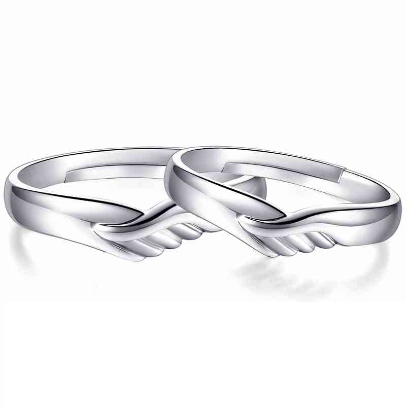 309ea78cb2 Unique Heart Design Sterling Silver Open Couples Ring Adjustable ...
