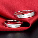 YOUR MY LOVE Couple Promise Rings Resizable