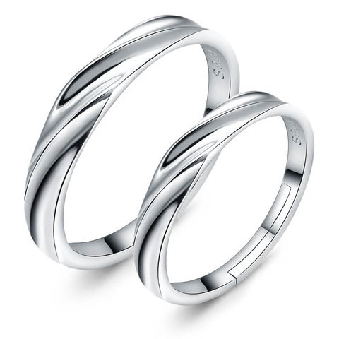Resizable Couple Promise Rings