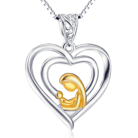 Mother Kid Necklaces Gift