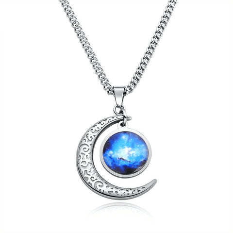 Luminous Stone Pendant Necklace