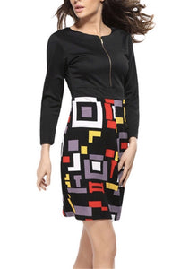 Multicolored Pencil Dress