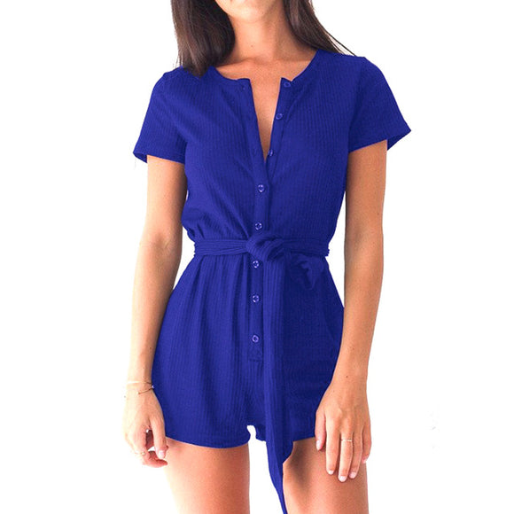 Short V-Neck Romper