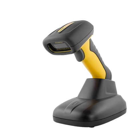 NETUM NT-1203 2.4G Bluetooth Wireless 1D&2D Waterproof Barcode Scanner with Smart Base, Portable 32Bit QR Bar Code Reader PDF417 Data Matrix Scan for iPad, iPhone, Android, Tablets or Computer PC