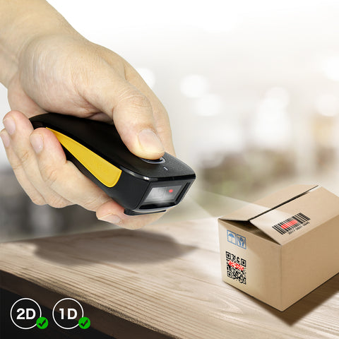 NETUM C750 Mini Bluetooth Barcode Scanner, Portable 1D&2D 2.4G Wireless QR Bar Code Scanner Reader for iPad, iPhone, Android, Tablets or Computer PC