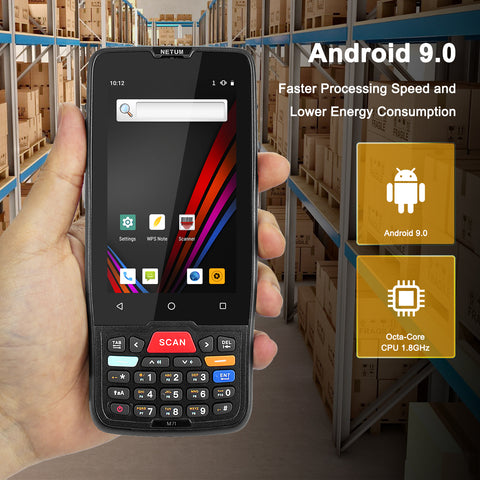 NETUM PDA-D7100 PDA Android Termina 2D Barcode Scanner Touch Screen Android Terminal Device with WIFI 4G GPS