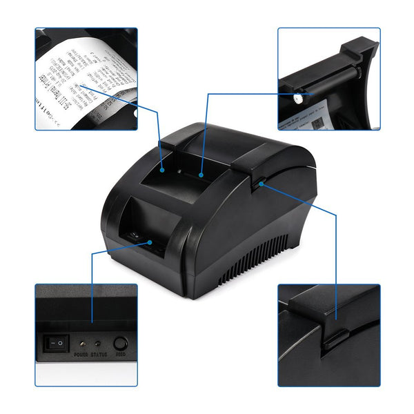 NETUM NT-5890K 58mm USB Thermal Receipt Printer Compatible with ESC/POS Print Commands Set