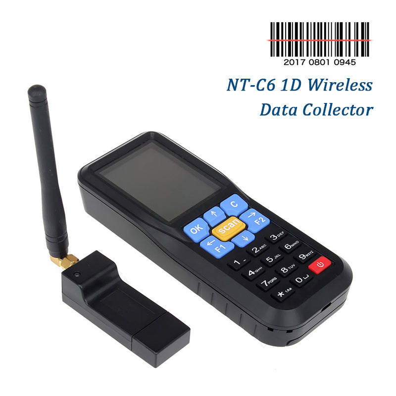 NETUM NT-C6 Wireless Data Collector, Portable Terminal Inventory Device USB Laser 1D Barcode Scanner