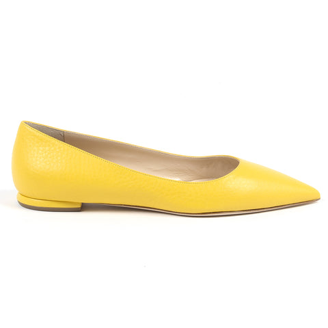 Andrew Charles New York By Andy Hilfiger Womens Ballerina Yellow BALTIMORE