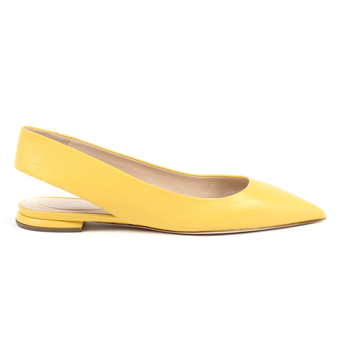 Andrew Charles New York By Andy Hilfiger Womens Ballerina Yellow MADISON