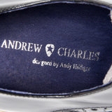 Andrew Charles New York Mens Brogue Oxford Shoe 914 ABRASIVATO CAM NERO GRIGIO