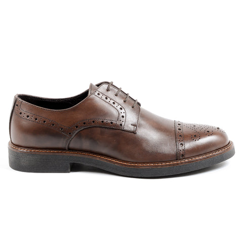 Andrew Charles New York Mens Brogue Shoe Brown LOU