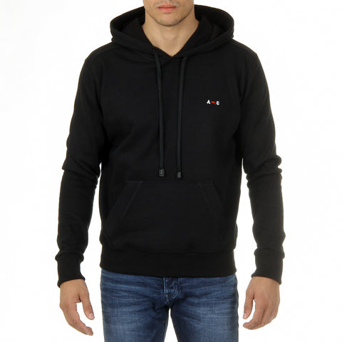 Andrew Charles New York Mens Hoodie Long Sleeves Round Neck Black FIFI