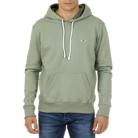 Andrew Charles New York Mens Hoodie Long Sleeves Round Neck Green FIFI